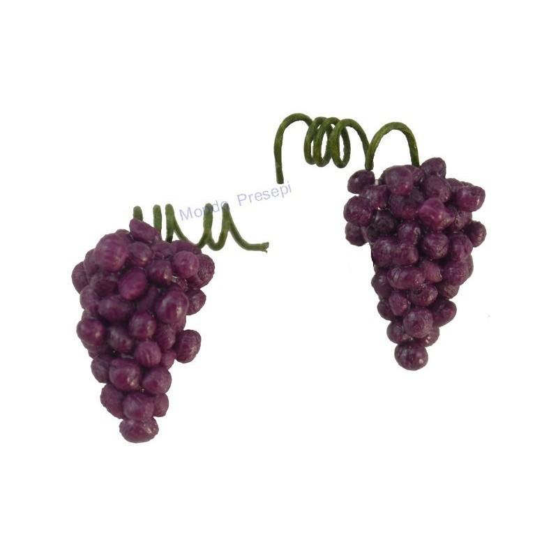 Mondo Presepi Set 2 grappoli d'uva nera