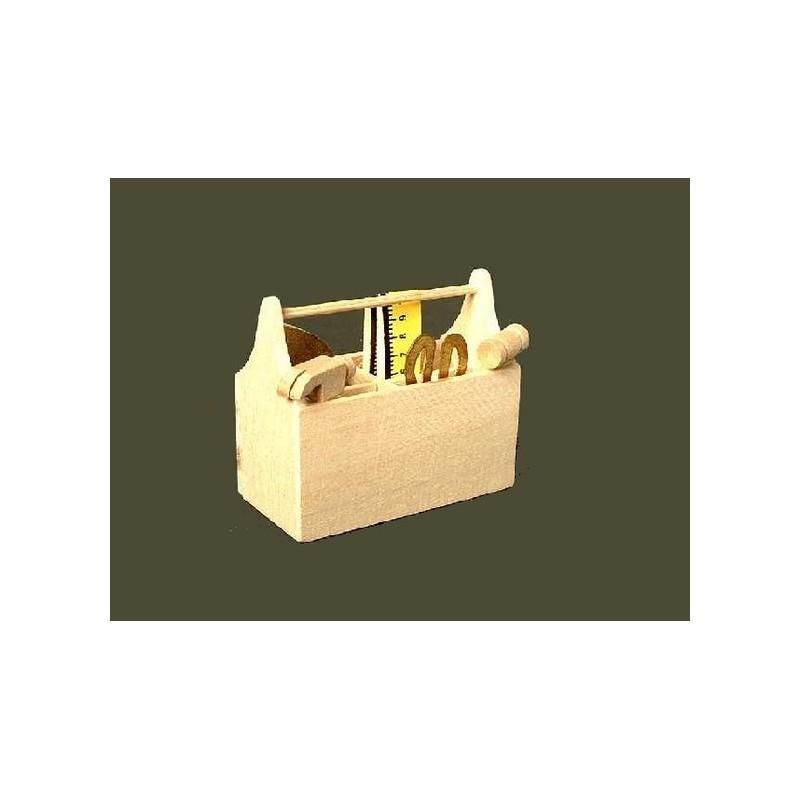 Mondo Presepi Set 5 utensili da falegname con cassetta porta