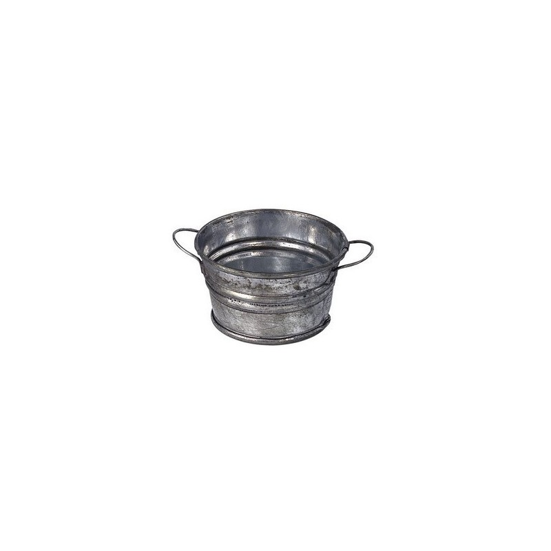 Round tub 3 cm in metal