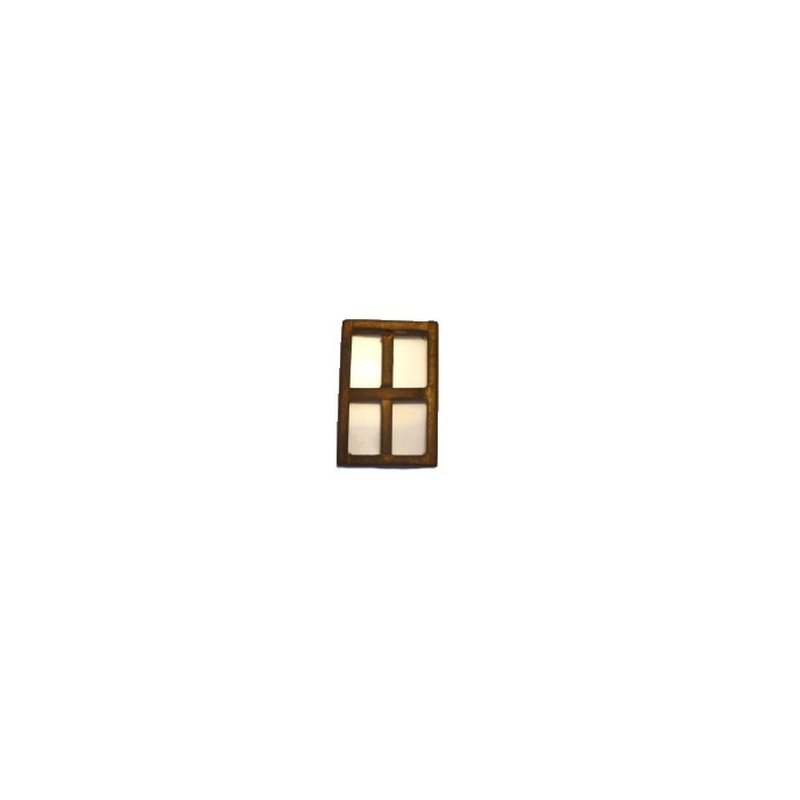 Mondo Presepi Finestra media in legno invecchiato cm 6x9