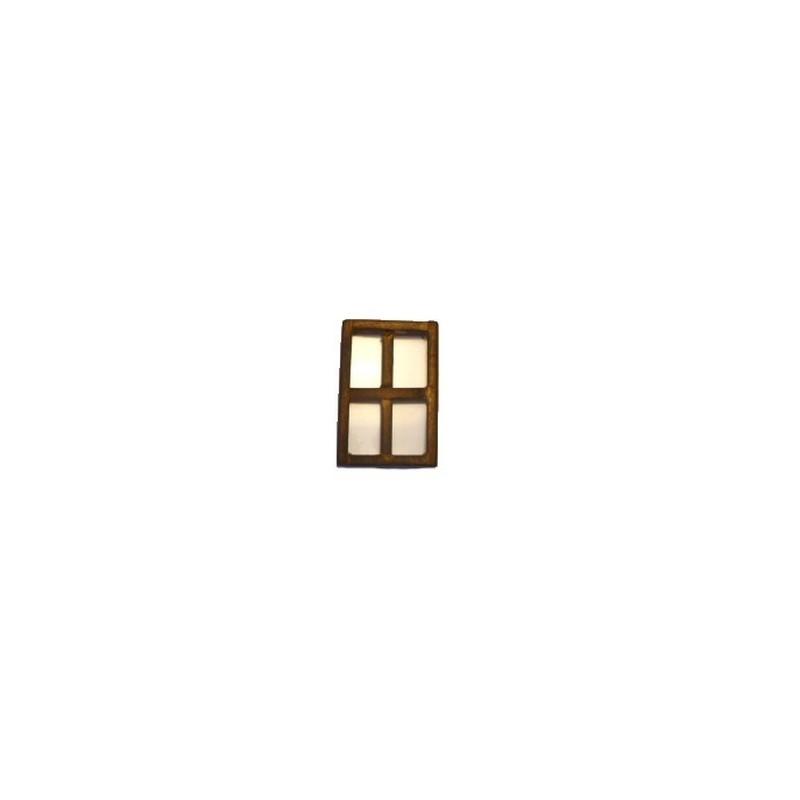 Mondo Presepi Finestra grande in legno invecchiato cm 7,5x11
