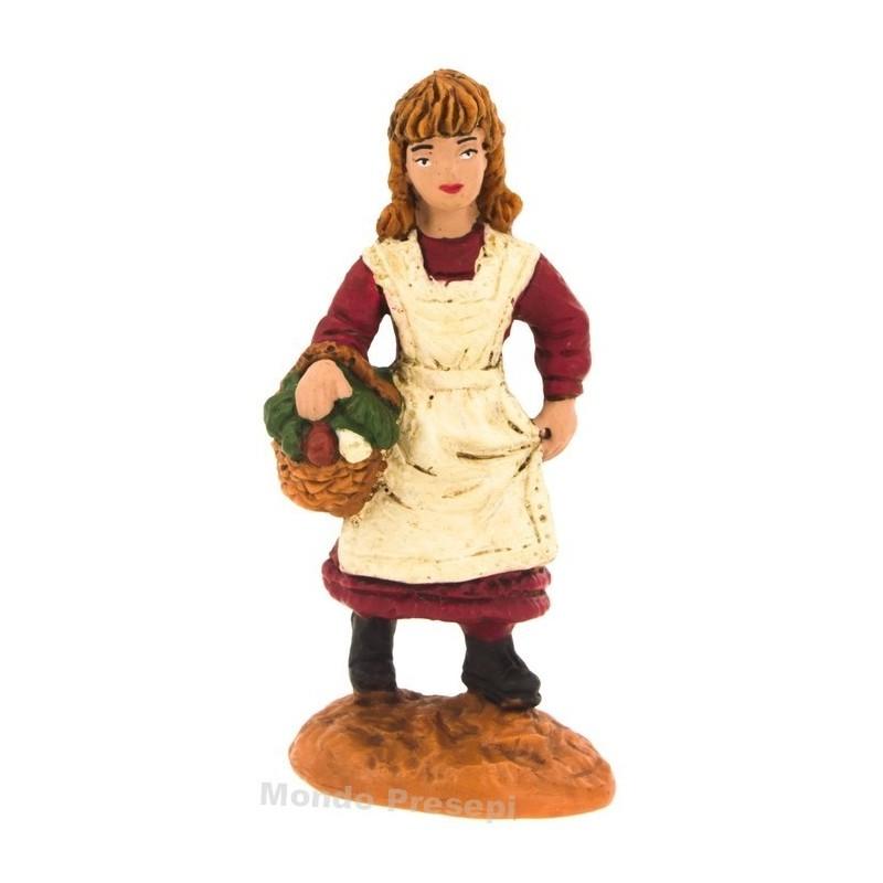 Mondo Presepi Bambina con cesto serie cm 8 Oliver