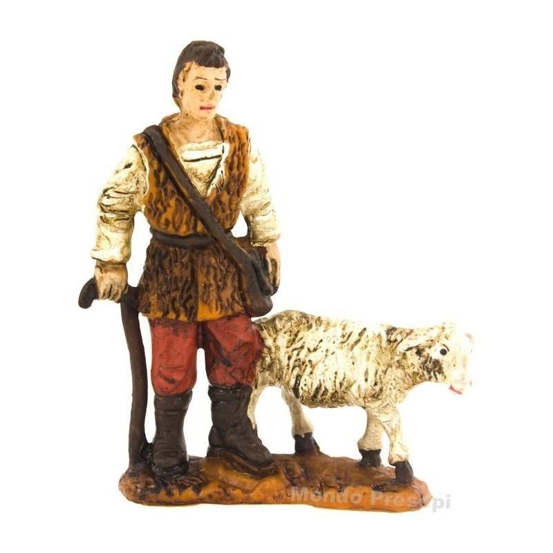 Mondo Presepi Pastore con pecora serie Oliver cm 5