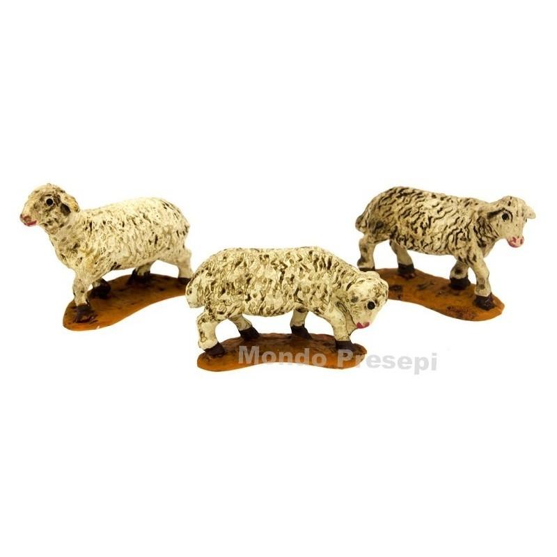 Mondo Presepi Set 3 pecore per statue cm 5