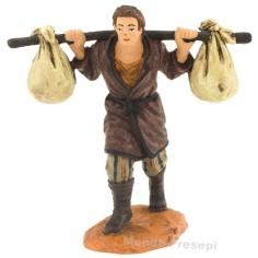 Uomo con sacchi a spalle serie cm 10 Oliver
