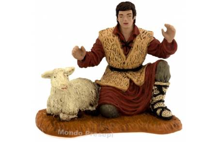 Shepherd with sheep series 10 cm Oliver