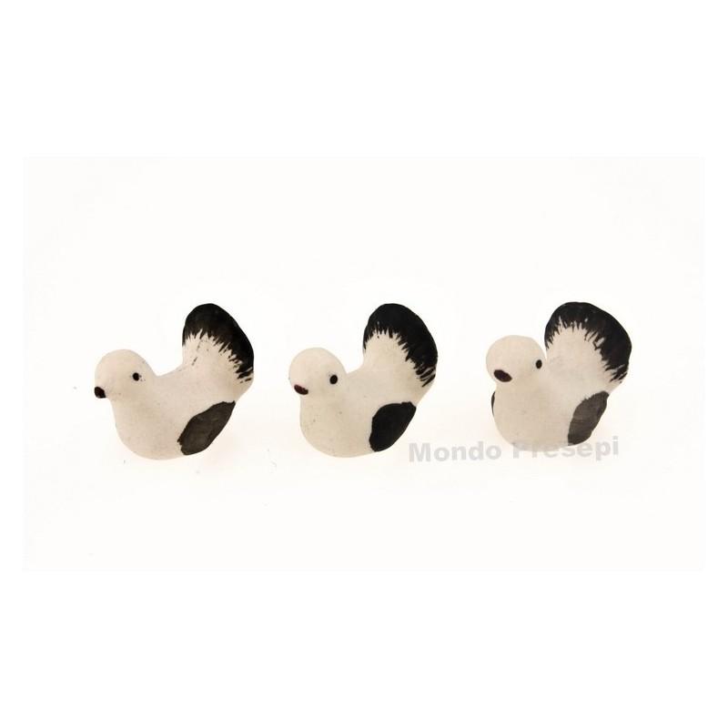 Mondo Presepi Set 3 colombe cm 1,2