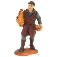Mondo Presepi Uomo con gallina serie cm 8 Oliver