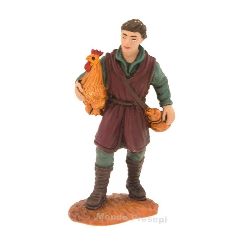 Contadino con gallina serie cm 8 Oliver Mondo Presepi