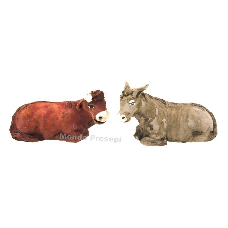 Ox and donkey for statues 15 cm