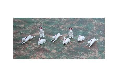Set of 8 rabbits - Cod. W31