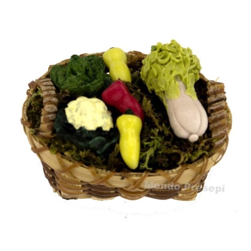 Mondo Presepi Cesto con verdure cm 4,5