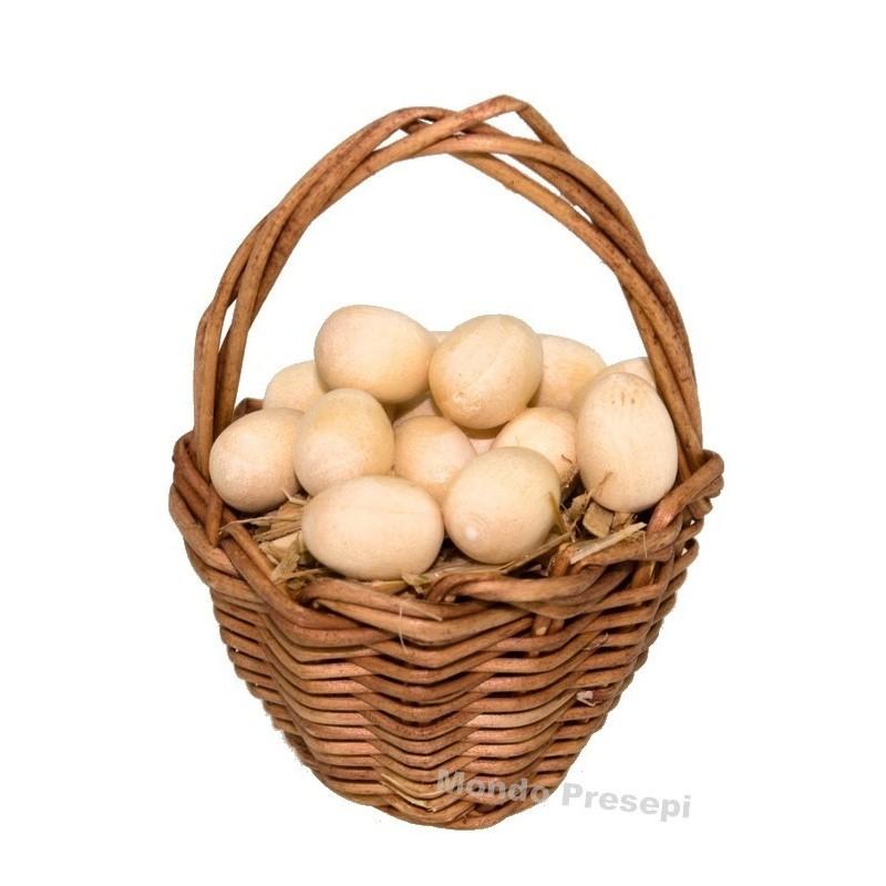 Mondo Presepi Cesto con uova cm 3,5