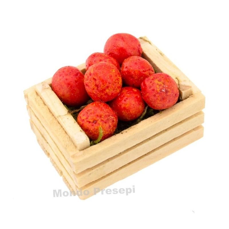 Mondo Presepi Cassetta cm 3,5 due listelli con arance