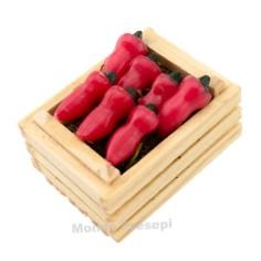 Mondo Presepi Cassetta cm 3,5 due listelli con peperoni rossi