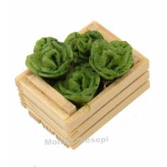 3.5 cm box with two strips with lettuce