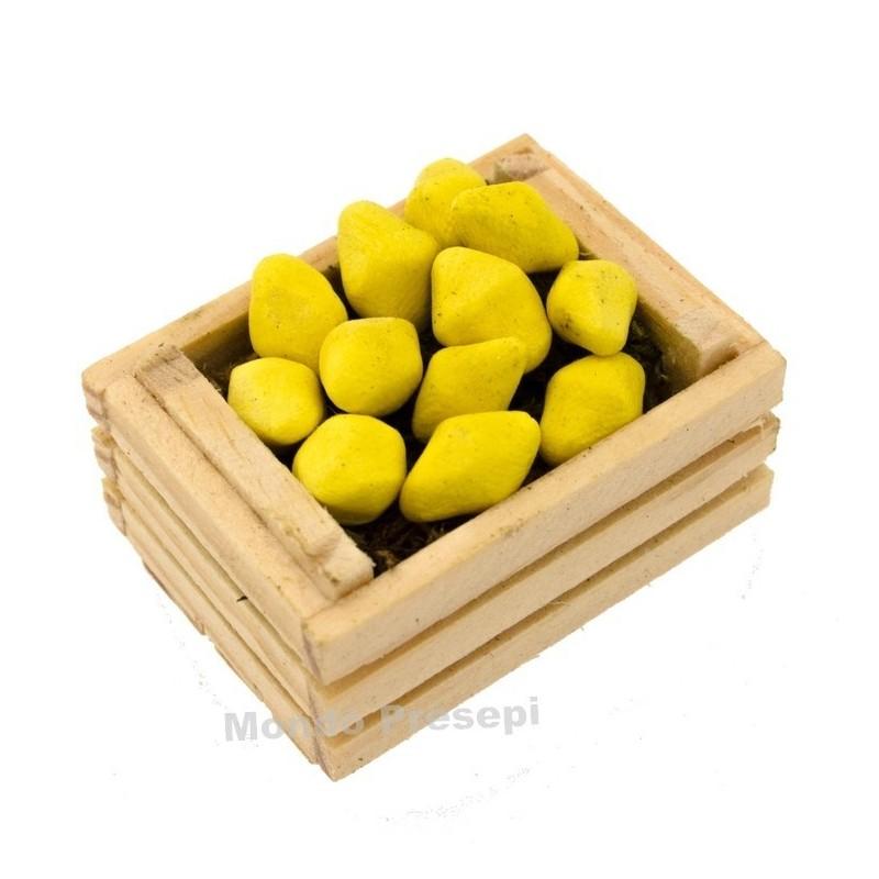 Mondo Presepi Cassetta cm 3,5 due listelli con limoni