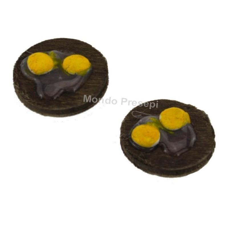 Mondo Presepi Set 2 taglieri con tuorli d'uova
