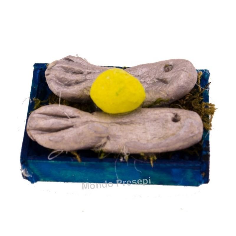 Mondo Presepi Cassetta pesce cm 3x2,2