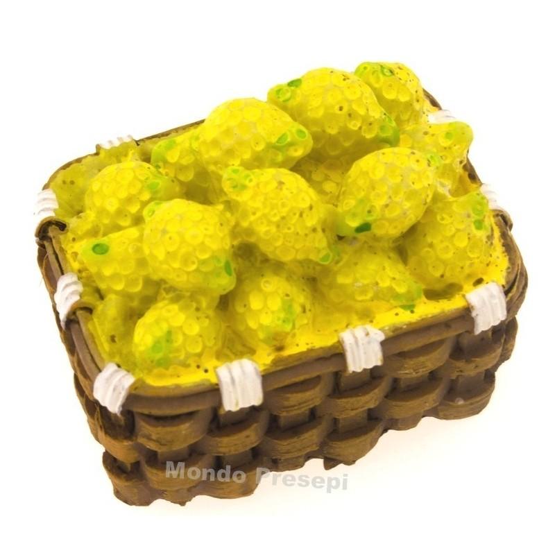 Mondo Presepi Cesto cm 4 Limoni