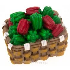 Basket 4 cm Peppers