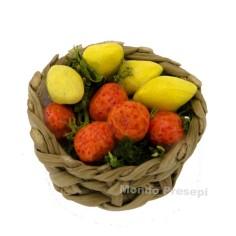 Cesto in vimini ø 2,5 cm con frutta
