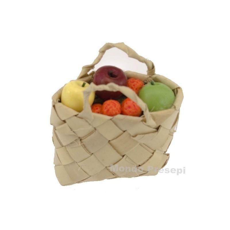 Mondo Presepi Borsa cm 4,5 con frutta