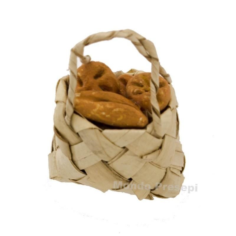 Mondo Presepi Borsa cm 3 con pane - miniature presepe
