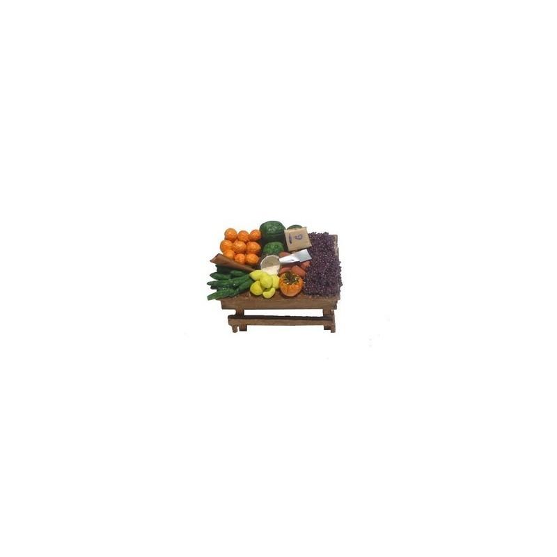 Mondo Presepi Banco grande di frutta e verdura D30F