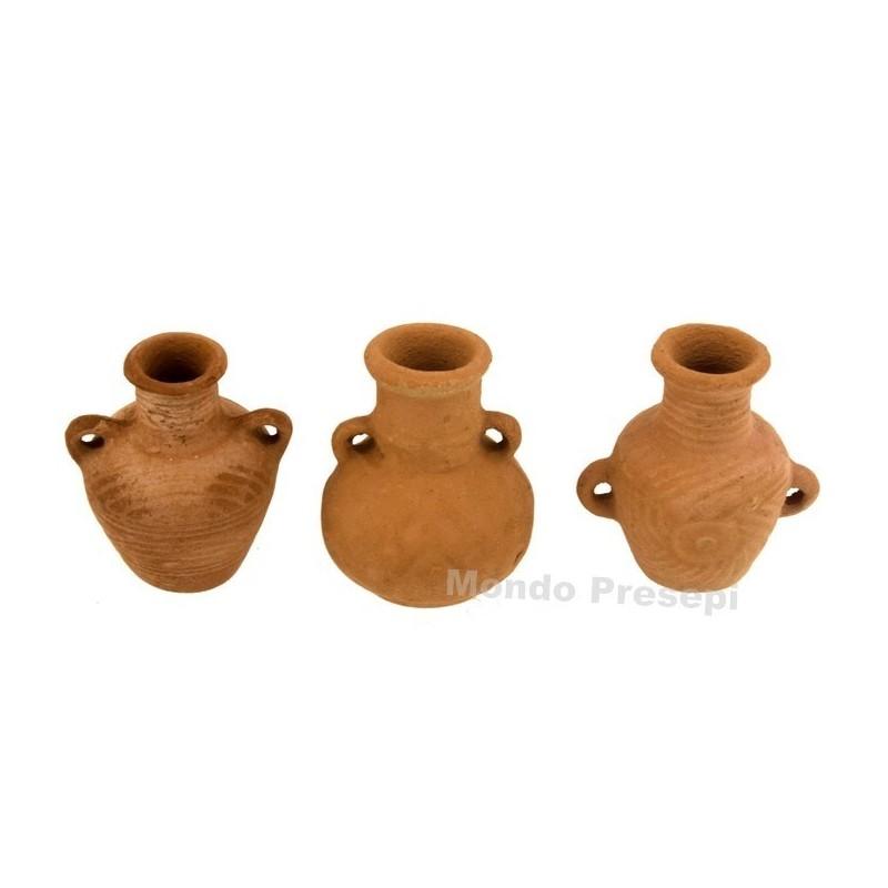 Set 3 amphorae cm 3,5 h.