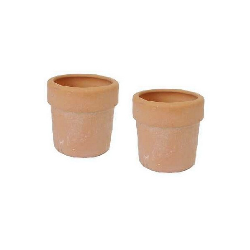 Set 2 vasi in terracotta h. 2 cm