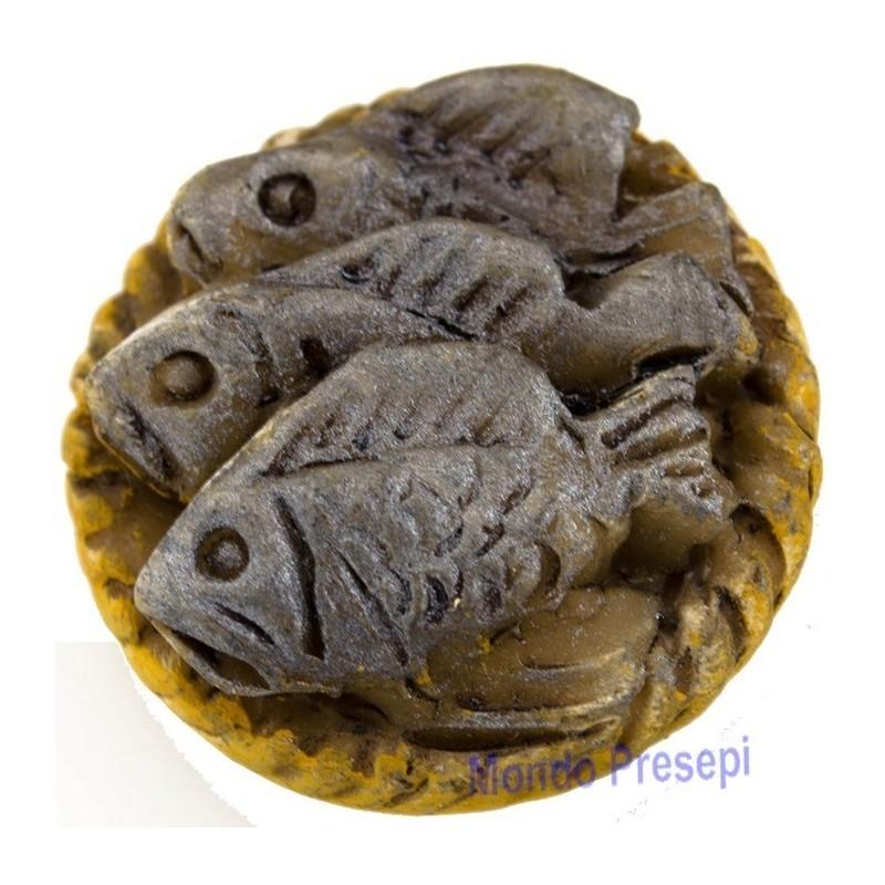 Cesto con pesci cm 3,5