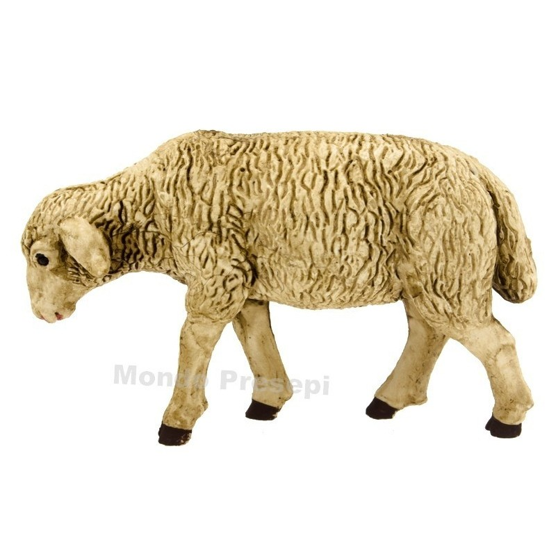 Patinated sheep for statues 15-20 cm - low head