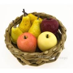 Cesto in vimini ø 3 cm con frutta