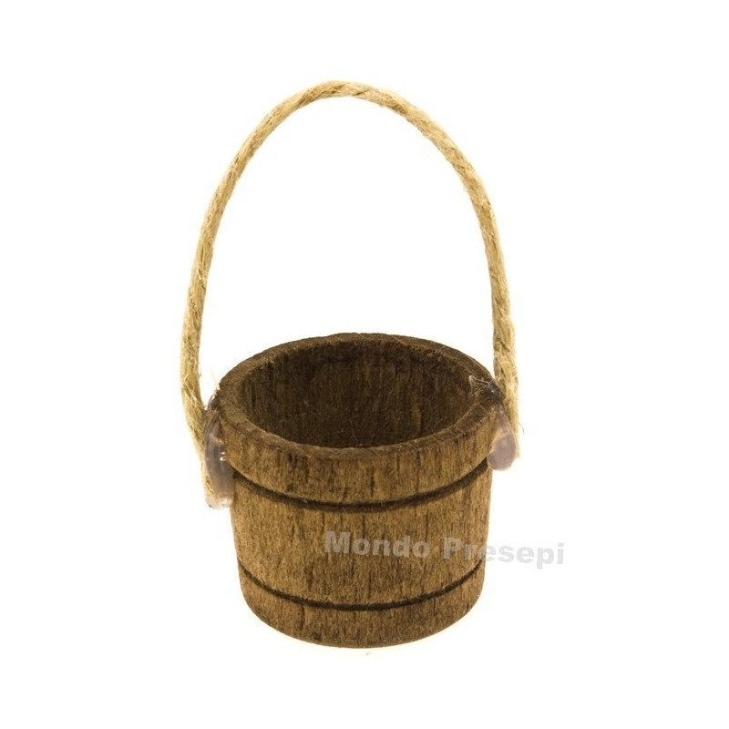 Wooden tub with rope ø 2.5 cm