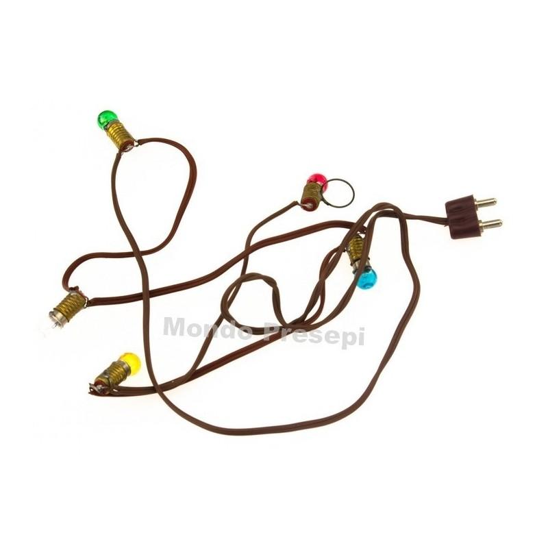 Mondo Presepi Serie 5 lampadine 3,5 volt E5,5