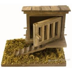 Chicken coop 11x7.5x10 cm