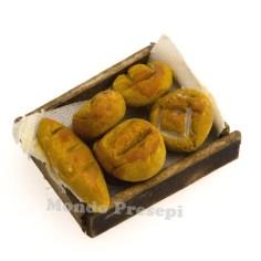 Mondo Presepi Cassetta con tavaglia e pane cm 3x2,5