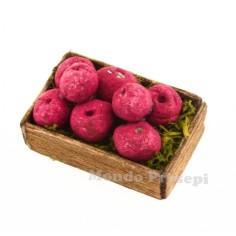Cassetta frutta Mele rosse cm 2,8x2