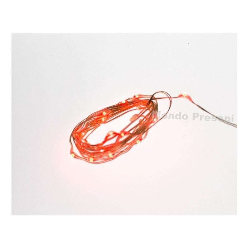 Mondo Presepi Collana 20 led a luce rossa - Copper resistenti