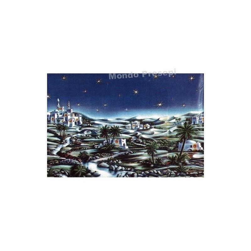 Mondo Presepi Fondale metallizzato Cm 100x70 - 723A