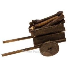 Mondo Presepi Carretto con legna - 35896