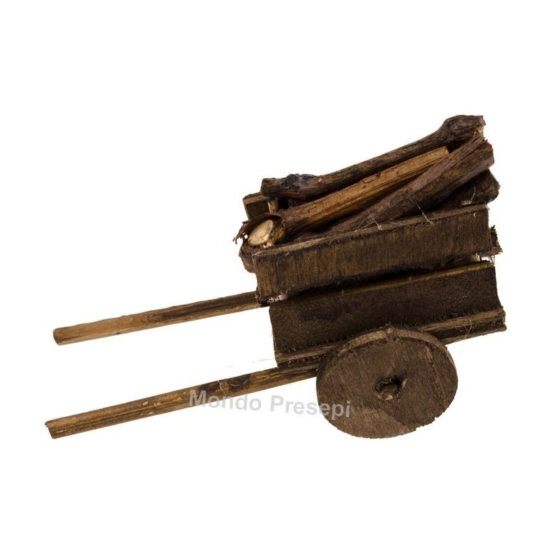 Cart with wood - 35896