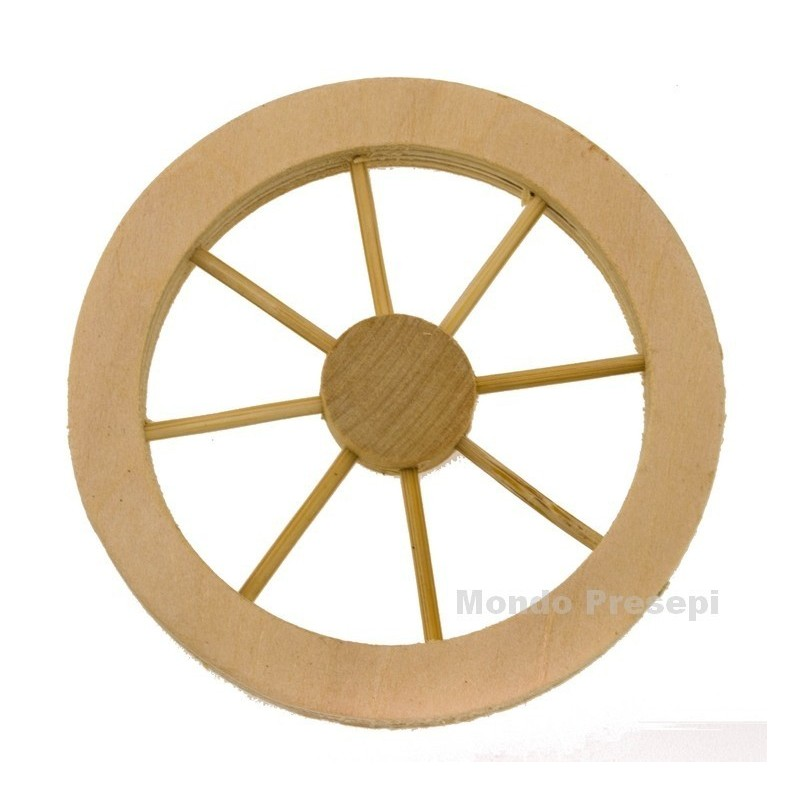 Ruota in legno ø 8 Cm