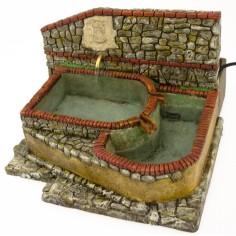Mondo Presepi Fontana da piazza con stemma - 5645