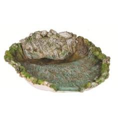 Mondo Presepi Fiume in resina - Lago cm 46x40 con pompa
