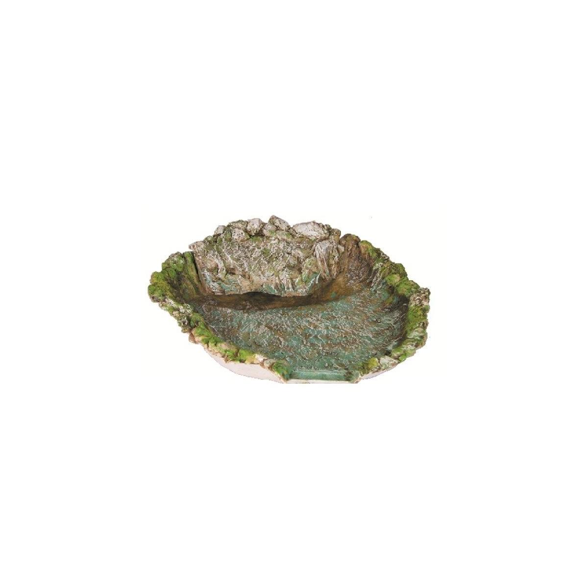 Fiume in resina lago cm 46x40 con pompa mondo presepi for Laghetto in resina