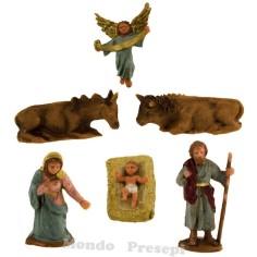 Mondo Presepi Natività cm 5 set 6 pezzi