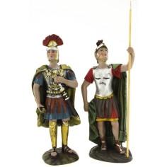 Mondo Presepi Cm 12 Set due soldati con lancia e spada