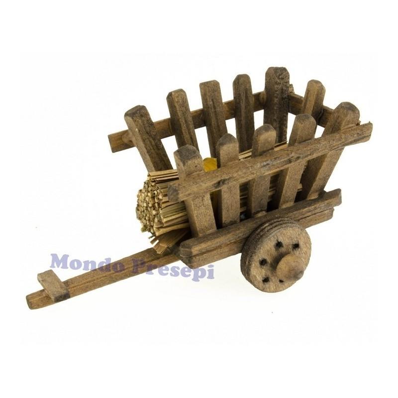 Mondo Presepi Carro in legno con fascina